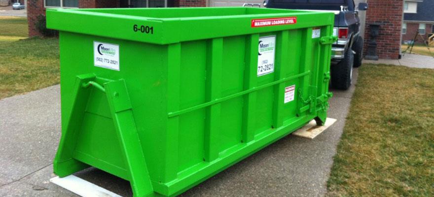 6-foot dumpster
