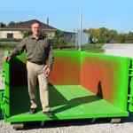 nine cubic yard mini dumpster